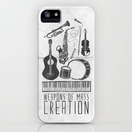 Weapons Of Mass Creation - Music (on paper) iPhone Case