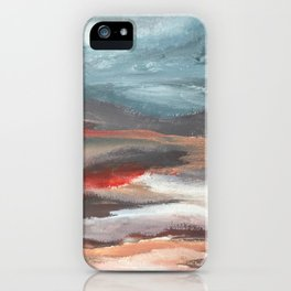 Serenity [2]: an acrylic piece in both warm and cool colors by Alyssa Hamilton Art iPhone Case