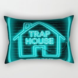 Trap House Neon Rectangular Pillow
