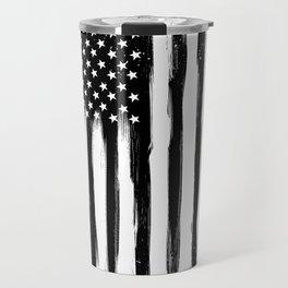 Black American Flag Travel Mug