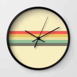 Retro Stripe Pattern Vintage Style Wall Clock