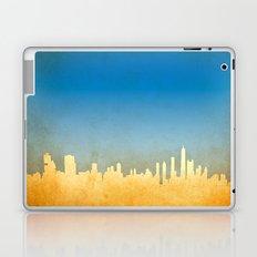 Grunge image of cityscape Laptop & iPad Skin