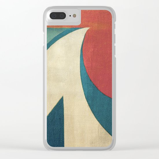 Sailing on Big Waves Clear iPhone Case