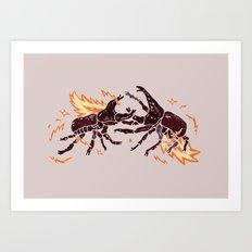 The Fighting Beetle Art Print