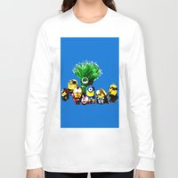 avenger Long Sleeve T-shirts featuring Avenger-mini ons mashup by BURPdesigns