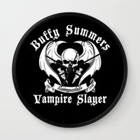 buffy Wall Clocks featuring Buffy the vampire slayer by CarloJ1956