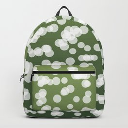 Blurry Lights: Green Backpack