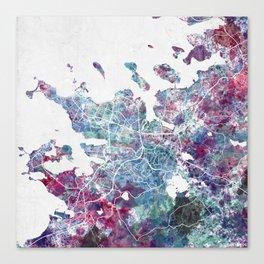 Reykjavik map Canvas Print