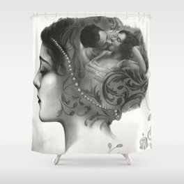 Requiro - pencil drawing Shower Curtain