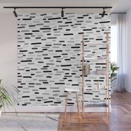 Grey Dash 3 Wall Mural