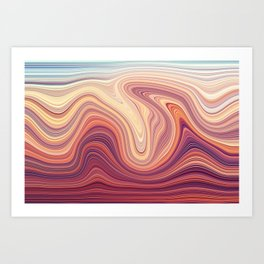 Marblized Art Print