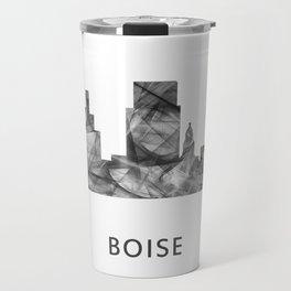Boise, Idaho Skyline WB BW Travel Mug