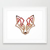celtic Framed Art Prints featuring Celtic fox - celtic knot by Ioreth