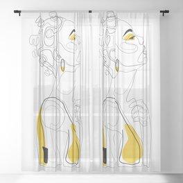 Bantu Beauty Sheer Curtain