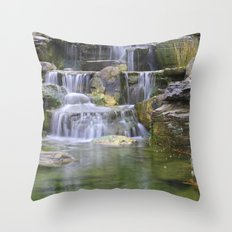Waterfalls Color Photo Nature Throw Pillow