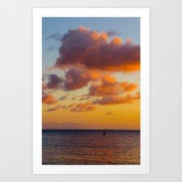 Buoy Beneath the Clouds Art Print