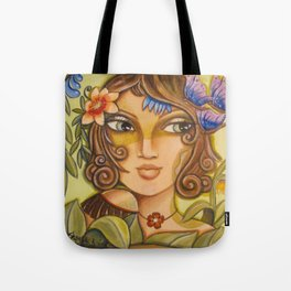 Mona Lisa's Butterflys Tote Bag