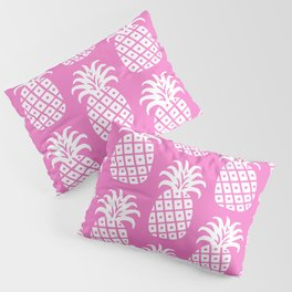 Retro Mid Century Modern Pineapple Pattern Pink 2 Pillow Sham