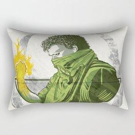 The Battle is Won Rectangular Pillow