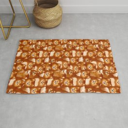 A Bunch of Pomeranians Pattern Rug
