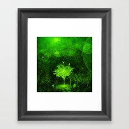Flow. (Green Version) Framed Art Print