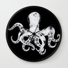 Octopus W/B Wall Clock