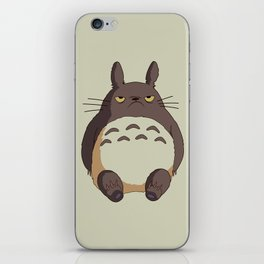 Grumpy T0toro iPhone Skin