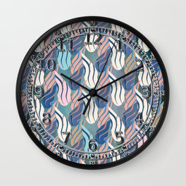 Clawed (Indigo/Blush) Wall Clock