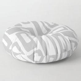 Retro Mid Century Modern Abstract Pattern 336 Gray Floor Pillow