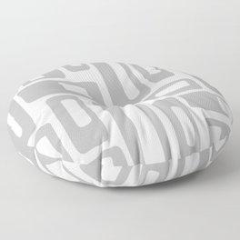 Retro Mid Century Modern Abstract Pattern 336 Gray Floor Pillow