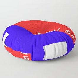 Ninja Blue and Red Floor Pillow