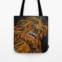 chewbacca Tote Bags featuring Chewbacca by Laura-A