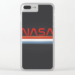 NASA Three Stripes Dark space Clear iPhone Case