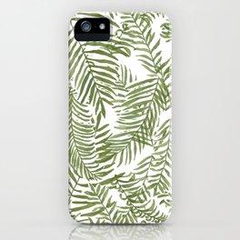 Areca Palm Pattern iPhone Case