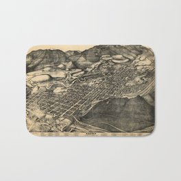 Bird's Eye View of Aspen, Colorado (1893) Bath Mat