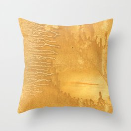 Sandy brown clouded watercolor Throw Pillow