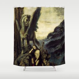 """Gustave Moreau """"Le Poète voyageur"""" Shower Curtain"""