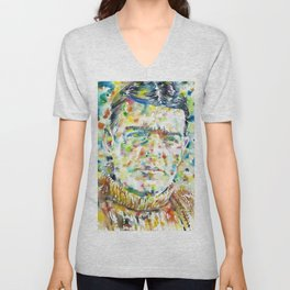 ERNEST SHAKLETON - watercolor portrait Unisex V-Neck