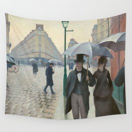 Gustave Caillebotte - Paris Street; Rainy Day Wall Tapestry