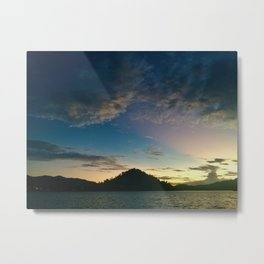 Silhouette Mountain Metal Print