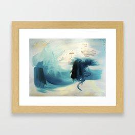 Cobalt Sea Framed Art Print