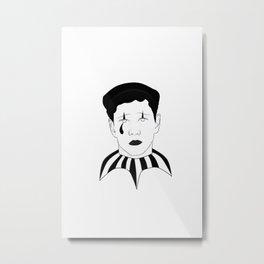 Pierrot the clown Metal Print