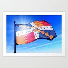 Birmingham, England, flag waving on the wind Art Print