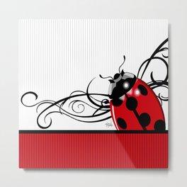 FANCY LADYBUG   red Metal Print