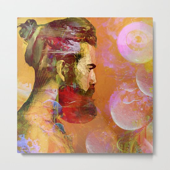 The arrival of the Shaman Metal Print