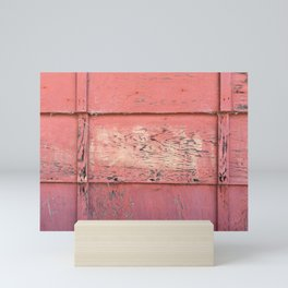 Weathered Red Siding Mini Art Print