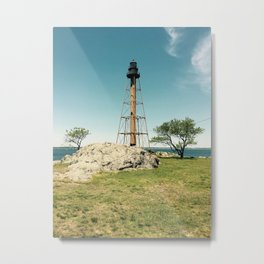 Lighthouse in the summer Metal Print