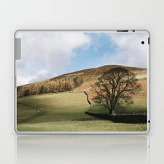 Sunlit tree and hillside. Edale, Derbyshire, UK. Laptop & iPad Skin