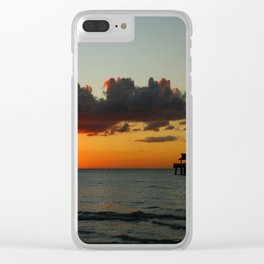 Naples Pier Sunset Clear iPhone Case