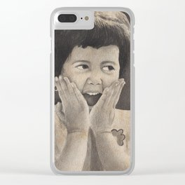 The Girl, Expressing Joy Clear iPhone Case